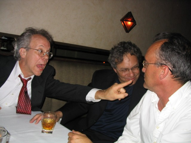 Rand Foerster makes a point to Lew and John
